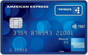 American Express payback card Kreditkarte dauerhaft kostenfrei amex 2000 punkte 2000 miles and more meilen