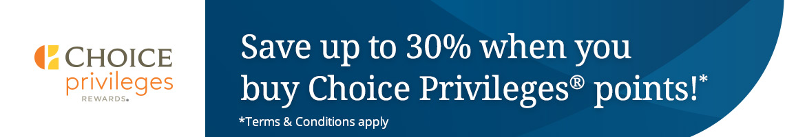 Choice Privileges Punkte mit 30 % Rabatt kaufen