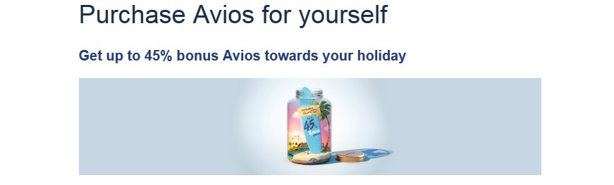 British Airways Avios mit 45 % Bonus kaufen