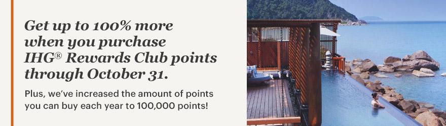 IHG Rewards Club Punkte mit 100 % Bonus kaufen
