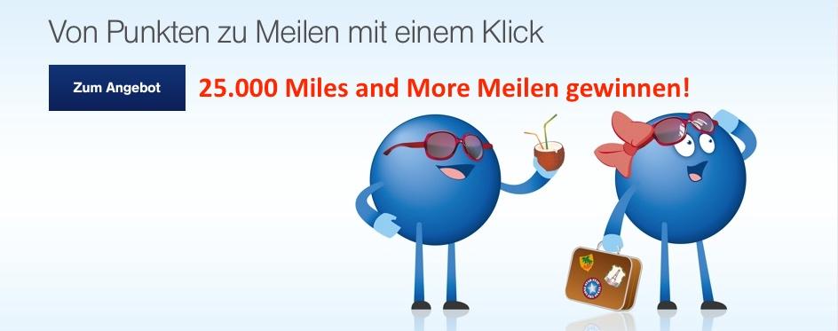 Payback Meilenabo einrichten und 10 x 25000 Meilen gewinnen