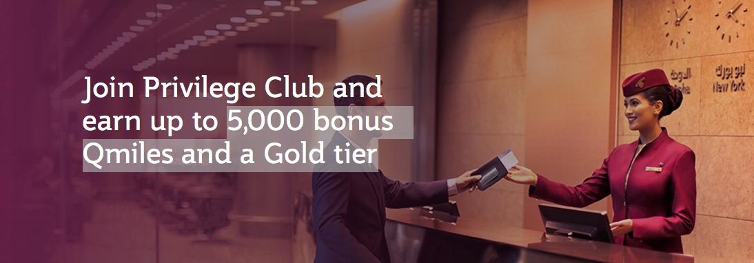 Qatar Privilege Club: Gold Status Fast Track und 5000 Bonusmeilen