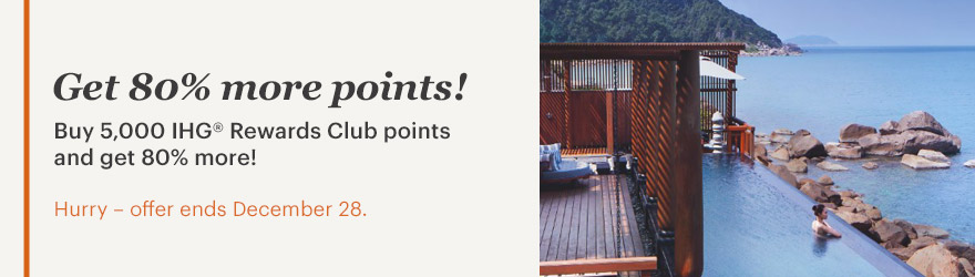 IHG Rewards Club Punkte mit 80 % Bonus kaufen