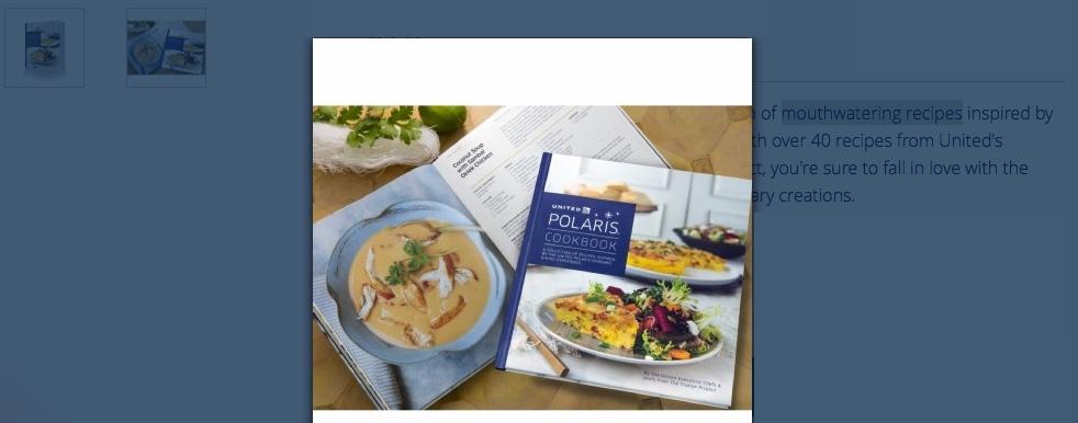 United Airlines Kochbuch – ekliges Essen auch //unter// den Wolken?