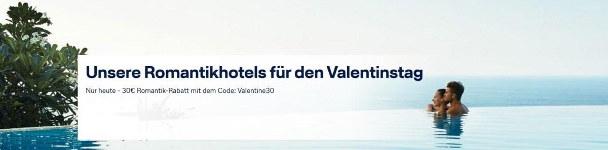 Lufthansa Holidays Gutschein: 30 Euro zum Valentinstag