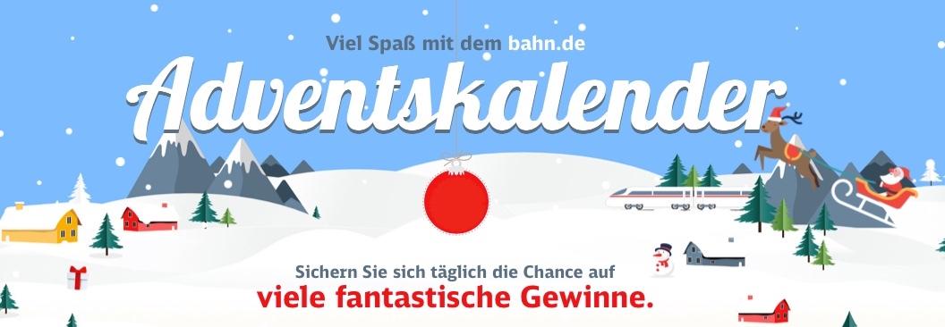 Bahn.DE Adventskalender 2019 deutsche bahn db gewinne gewinn verlosung bahncard bc 25 50