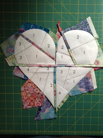 riley blake paper piecing heart