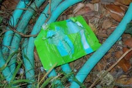 shredded little green pouch