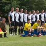 """Die Bundeswehr-Fußball-Nationalmannschaften (BFN) spielten am """"Tag der Bundeswehr"""" in Augustdorf"""