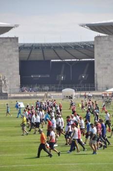Die Bogenschützen genossen die Atmosphäre auf dem Maifeld direkt vor dem Olympiastadion.