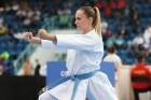 Sophie Wachter verpasst eine Medaille im Kata Einzel.