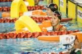 Jessica Luster nach ihrem Vorlauf 200 Meter Super Lifesaver.