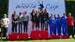 Oberfeldwebel Evangelina Warich und Feldwebel Friederike Ripphausen, belegten zusammen mit dem Frauen Mixed-Team Platz 2.