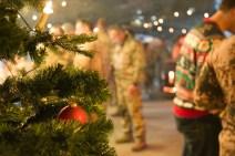 Weihnachtliche Stimmung auf dem Christkindlmarkt in Erbil, Irak.