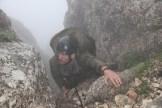 Fast geschafft. Am Ende des Kamins – der Gipfel ist nun nicht mehr weit.