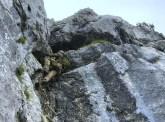 Die Strickleiter hilft über die steilste Stelle hinweg.