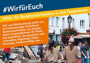"""#WIRFÜREUCH – Hilfen für Bundeswehrfamilien in den Flutgebieten"""""""