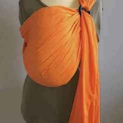 Orange water ringsling displayed on a mannequin