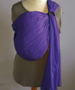 Purple water ringsling displayed on a mannequin