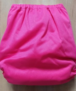Rear of Pink Littles & Bloomz newborn nappy