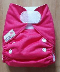 Pink Littles & Bloomz newborn nappy