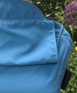 close up of light blue solarweave Integra