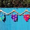 Group photo of handmade bibs