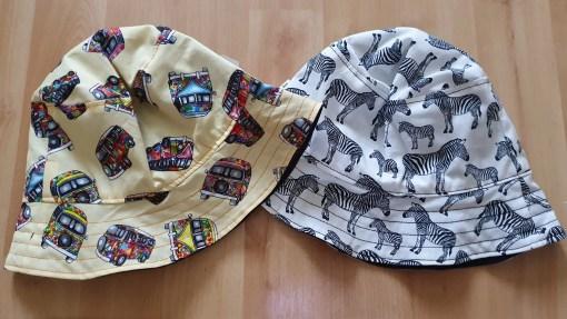Two handmade sun hats