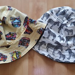 Two handmade sun hats