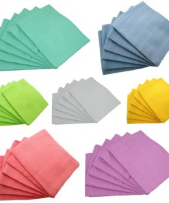6-pack plain group muslin squares