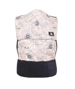 Spirit of Adventure sling with a map print and navy cord
