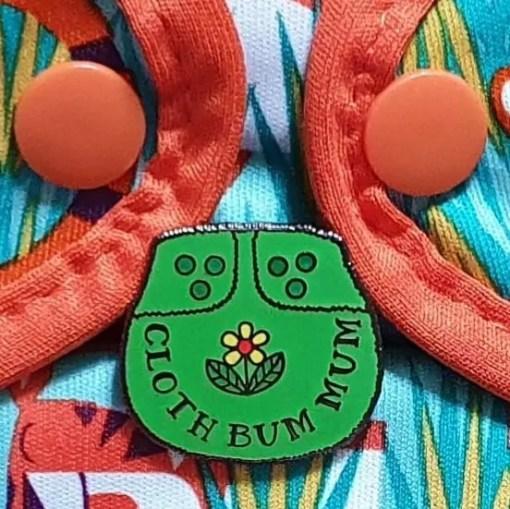 Green Cloth Bum Mum enamel pin