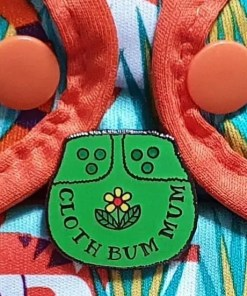 Green Cloth Bum Mum enamel pin