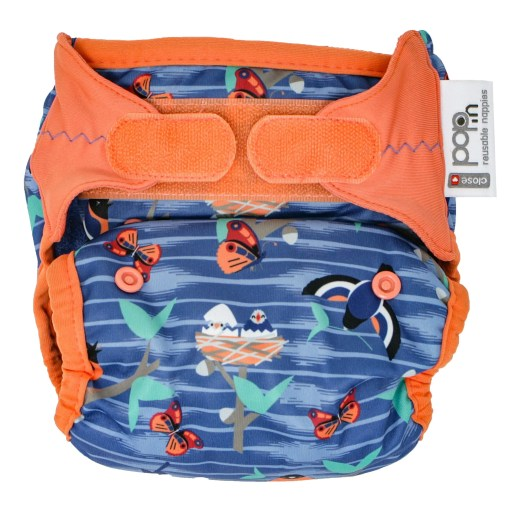 Front view of Close Pop-In V2 Nappy APLIX Twilight Garden