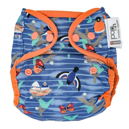 Front view of Close Pop-In V2 Nappy POPPER Twilight Garden