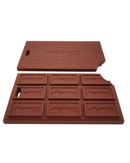 Front and rear of Chocolate bar shaped chew toy
