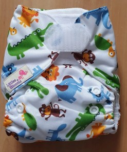 Savannah Animal print Littles & Bloomz newborn nappy