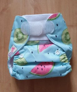 Littles & Bloomz newborn nappy on medium setting