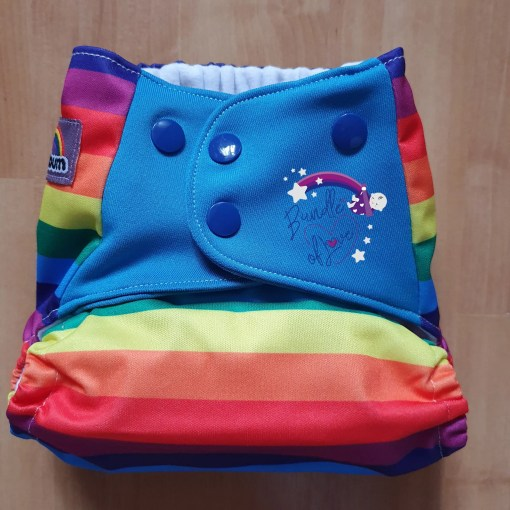 Smallest setting of the Little Lovebum Popper and Pocket nappy