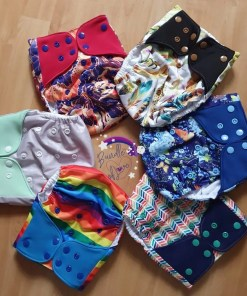 Circle of Little Lovebum Popper and Pocket nappies!