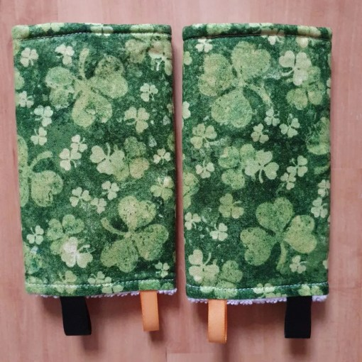 Suck pads with green clover design