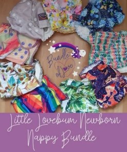 Little Lovebum Newbie newborn nappy bundle