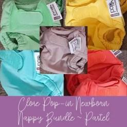 Close Pop-in pastel newborn nappy bundle