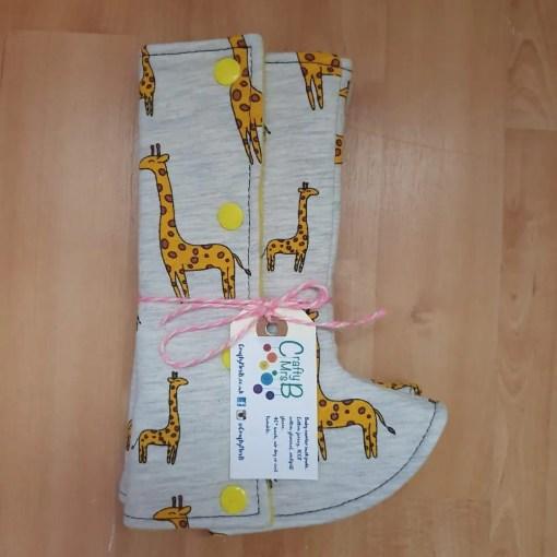 Giraffe print suck pads