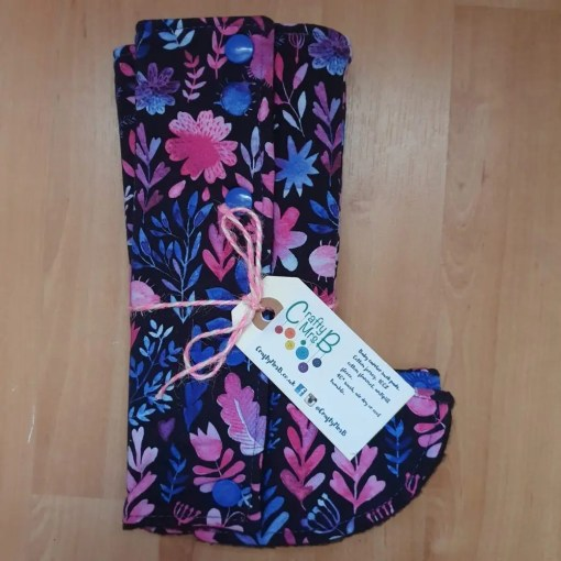 pink and purple floral suck pads