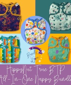 Bundle of 5 different Hippynut nappies