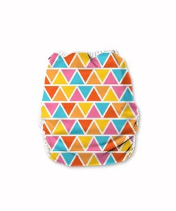 Colourful triangle patterned nappy