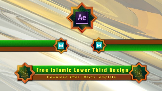 Download islamic lower third Adobe After Effects Element 3d template