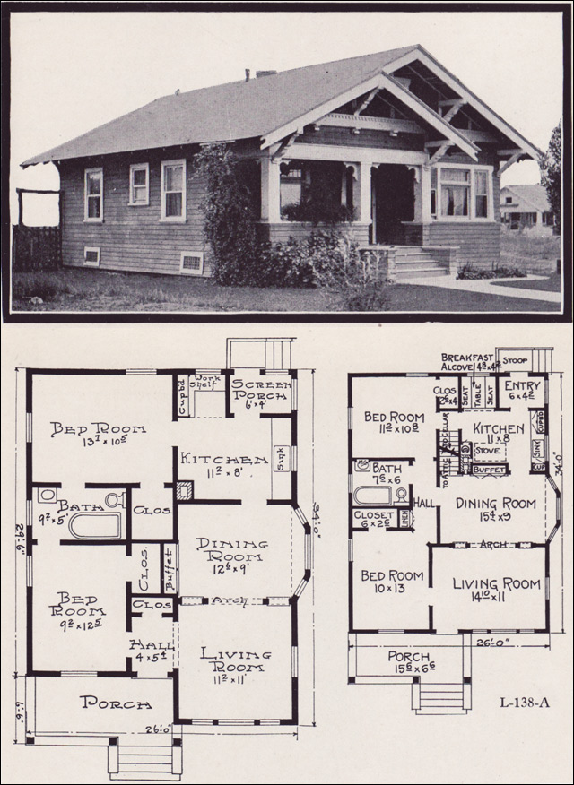 Plans Style House 1930 Bungalow