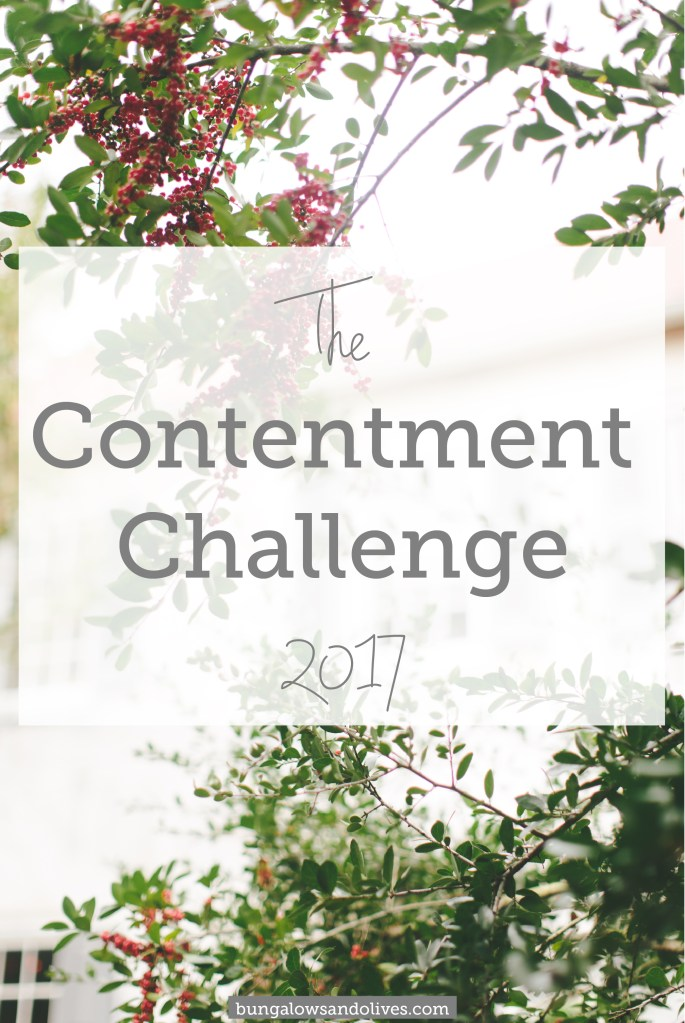 The Contentment Challenge – January 2017